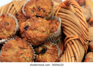 A Basket of Delicious Homemade Muffins