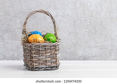Basket of Easter eggs.