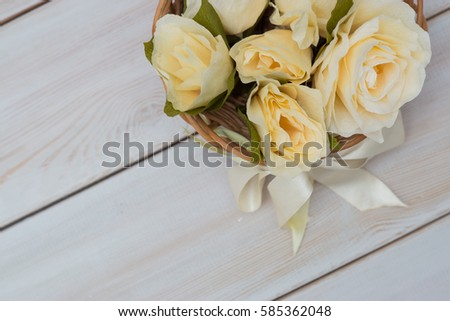 Basket Flowers Made Tissue Paper By Stock Photo Edit Now 585362048