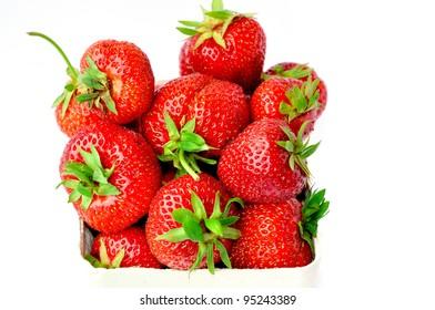 Basket of fresh strawberries.