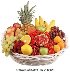 BASKET OF FRUIT CUT OUT