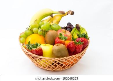 A basket of fruits