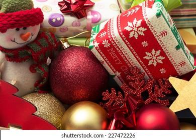 Basket full of Christmas donations