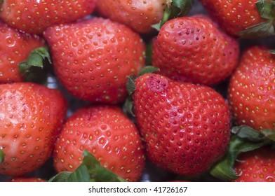 basket full of strawberries