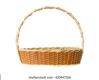 basket isolated on white background