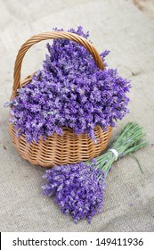 Basket with a lavender