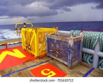 Basket for lifting equipment used on offshore boat .Offshore crane 2017