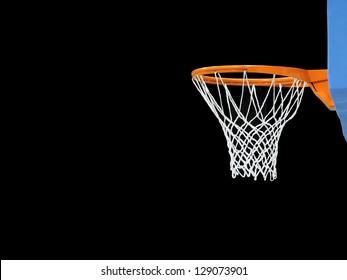 Basket on black background