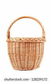 Basket on white background
