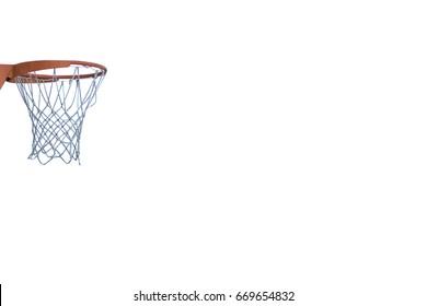 Basket on white background (room to write)