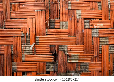 basket orange background