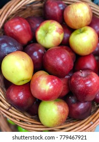 Basket of red apple, honeycrisp