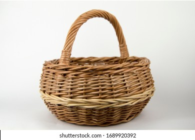 basket of vines on a gray background stands. Natural product