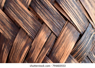 Basket Weave Close Up Abstract