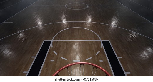 Basketball arena in 3D