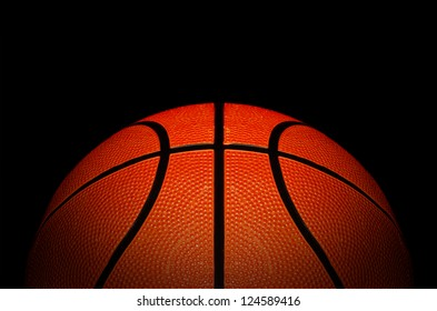 basketball association basket ball against black background good advertising concept with space for text