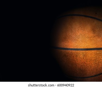 Basketball background with space for text