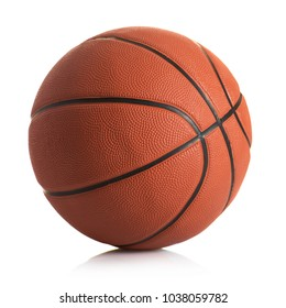 Basketball ball against white background