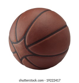 basketball ball brown leather isolated sport nba