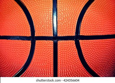 Basketball ball. Close up of basketball ball. Sport concept.