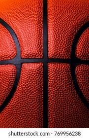 basketball ball macro photo