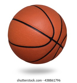 Basketball ball on white background