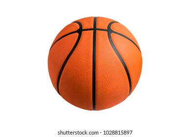 Basketball ball over white background.  File contains a clipping path.