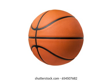 Basketball ball over white background. isolated. orange color