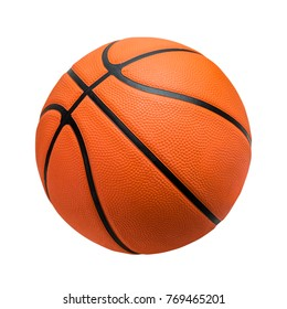 Basketball ball over white background.  isolated. orange color. File contains a clipping path.