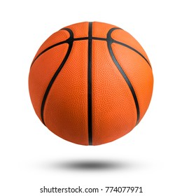 Basketball ball over white background.  isolated. File contains a clipping path.