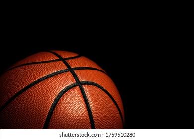 Basketball ball texture. Sport background