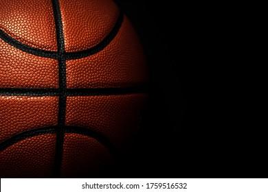 Basketball ball texture. Sport background.