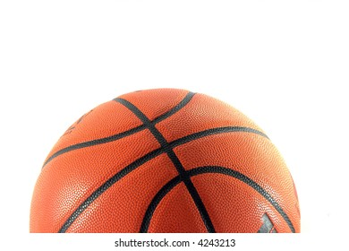 Basketball closeup isolated on white