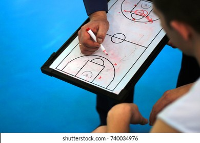 basketball coach on the court