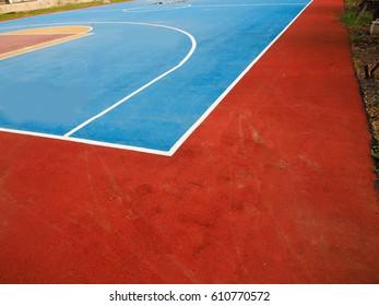 Basketball court Basketball field line