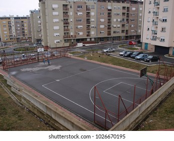 a basketball court in the neighborhood of Stepa Stepanovic vozdovac