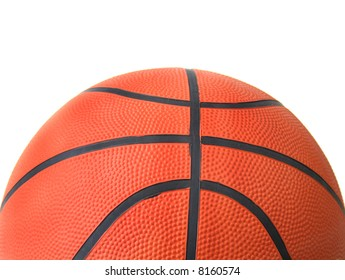 basketball with a crop for text all isolated on a white background.