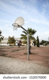 a basketball field in the street