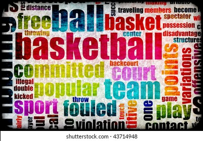 Basketball Game as a Sport Grunge Background