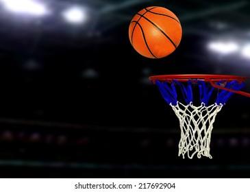 Basketball games under Spotlights