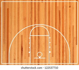 Basketball half court, Parquet