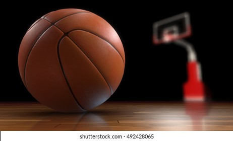 Basketball. High-resolution image. 3d rendering. Similar images can be found in the portfolio. Thank you for watching