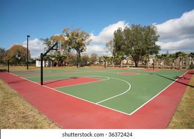Basketball Hoop and Basketball Court