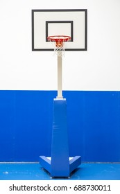 Basketball hoop in the hall