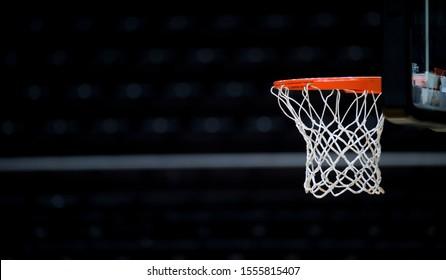 Basketball hoop isolated on black background