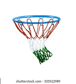 basketball hoop isolated on white.