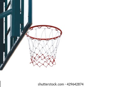 basketball hoop on white background