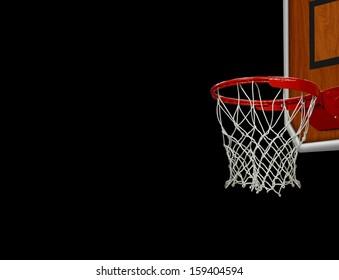 Basketball Hoop over Black
