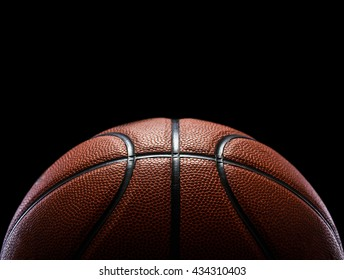 basketball isolated on black background