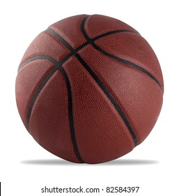 basketball isolated on white with a clipping path